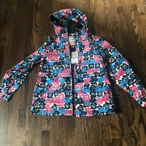 Hunter Floral Women's 3 Layer Hooded Anorak Jacket
